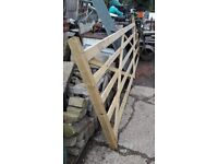 New 12 ft long Wooden Farm Gate X 2