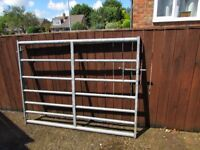 Galvenised 7 bar Gate 5 foot wide by 3 foot 9 inches high