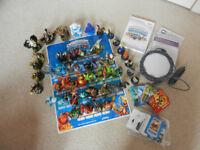 Skylanders Spyros Adventure Wii game, portal, instructions & appox.50 figures