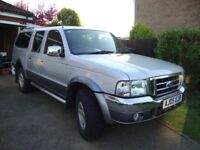 Ford Ranger 2.5 XLT Thunder 4x4 2005 Double cab, only 66,000 miles, No VAT