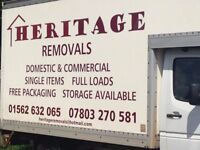 HERITAGE REMOVALS AND STORAGE COMPANY COURIER/MAN WITH VAN DELIVERY AND MORE