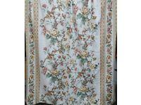 pair of floral curtains (x2), lined back. each 170cm length x 107cm width. Excellent clean condition