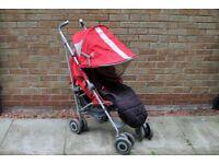 MACLAREN Techno XT Red Buggy Stroller Pushchair Pram