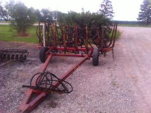 Farm king Model 9 section harrow cart
