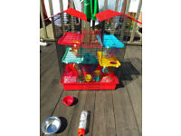 Hamster Cage and complete starter kit - £50