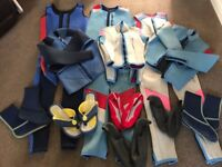 Wetsuits & Waterproof Shoes - Small/Medium