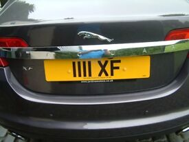 1111 XF The perfect number plate for a Jaguar XF: Open to sensible offers.