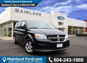 2013 Dodge Grand Caravan SE/SXT LOCAL, NO ACCIDENTS, LOW KM'S