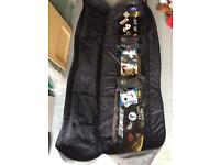 Sims Ace 165cm asymmetric vintage snowboard and bag
