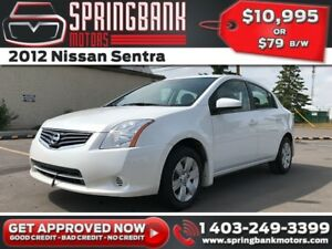 2012 Nissan Sentra $79B/W INSTANT APPROVAL, DRIVE HOME TODAY!