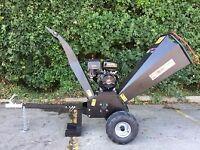 "Black Wood chipper / garden shredder 15 HP GT 4.8 inch chip ,""120cm"""