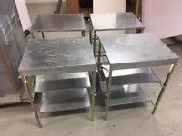 Foldable metal shelving