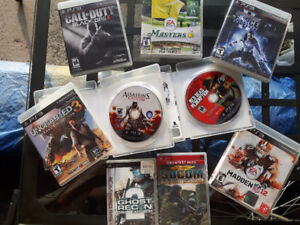 Lot of 7 ps3 games + 2 PSP + 1 FREE ps2 game