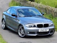 (2012) BMW 1 SERIES 120D M SPORT PLUS 2DR - ALLOYS - AUTO - LEATHER - FSH - UPGRADES - TOP SPEC
