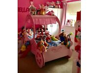 *REDUCED PRICE** Pink Princess Carriage Bed - Excellent condition from a smoke and pet free home