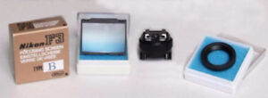 Nikon F3 focus screen B and accessories package