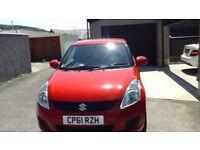 2012 Red Suzuki Swift 1.25 SZ2 3 door,