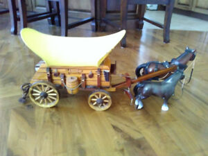 Vintage Wagon and horses Lamp