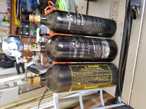 3 co2 tanks paintball air tanks