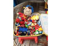 Noddy collection of toys all in a wheelie case