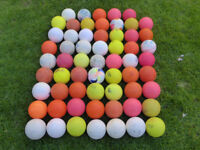 Mixture of used Hockey balls (smooth and dimple) x 61