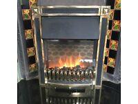 Freestanding heavy coal effect fire