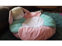 Mothercare baby sit me up cosy rabbit pink seat