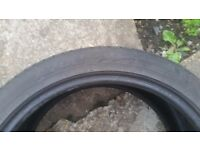 2 x Avon ZZ3 235 40 18 part worn used tyres in decent condition