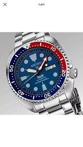 Seiko Padi Auto Prospex Pepsi Turtle Diver watch / montre SRPA21