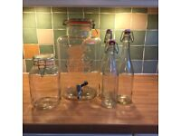 Kilner 8 litre Drinks Dispenser, 3 bottles and 1 jar