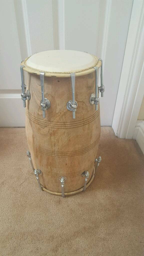 Indian dhol dholak in very good condition. Hand made.