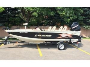 Legend 16' Aluminum Boat With Steering Console