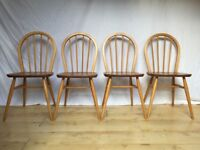 Set of 4 four Vintage Ercol Windsor dining chair