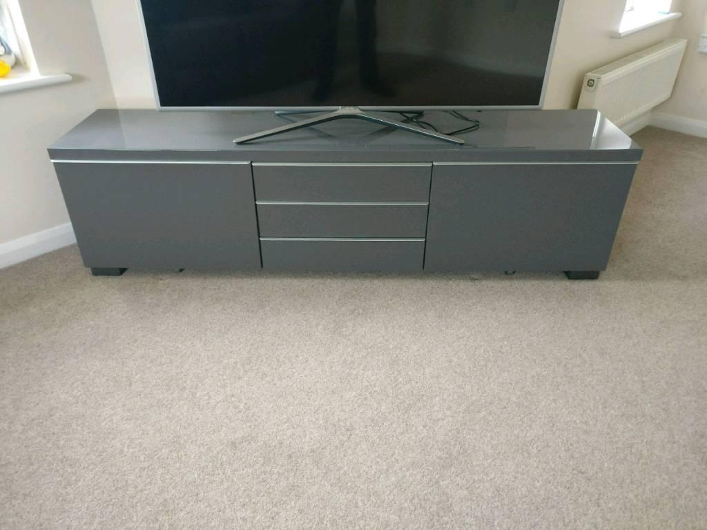 Long Grey TV Unit, Reduced Price