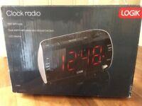 LED Logic Clock Radio FM/AM Dual Alarm & Snooze