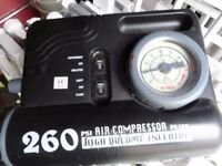 260 psi air compressor for cars ext with red light