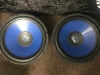 "15"" Pyle Subs (Two Subwoofers)"