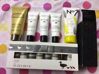 Ladies body products Baylis and Harding /No7 /fizzy duck/ Au lait