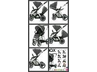 Like new Grey Oyster Max double twin pushchair with accessories