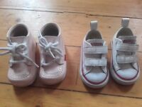 Infant/Toddler size 3 Kickers and Converse baby shoes £5 each Good Condition