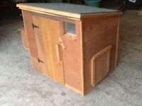New wooden chicken coop/shed