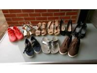 An assortment of shoes
