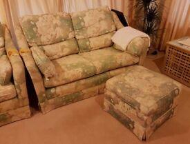 Three piece suite of sofas