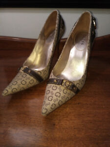 Tan Coloured GUESS Dress Pump Shoes by Marciano