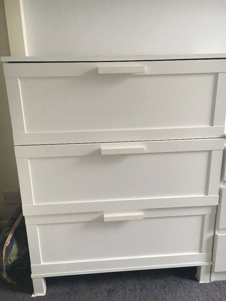 White Chest Of 3 Drawers Ikea Austmarka