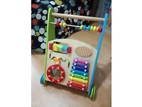 Wooden Activity Walker Push Along Toy
