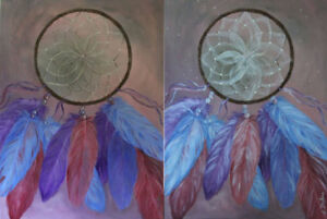 One of a Kind DREAMCATCHER Painting - Hand painted Canvas