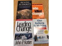Collection of leadership books
