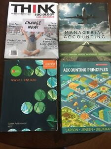 NSCC business and accounting textbooks