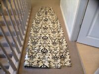Curtains Oatmeal with Black Flock - 2 pairs available
